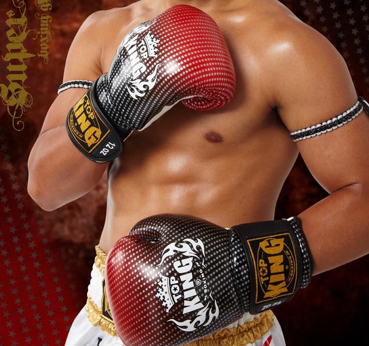 トップキング TOP KING キックボクシング グローブ スーパースター 赤 8オンス