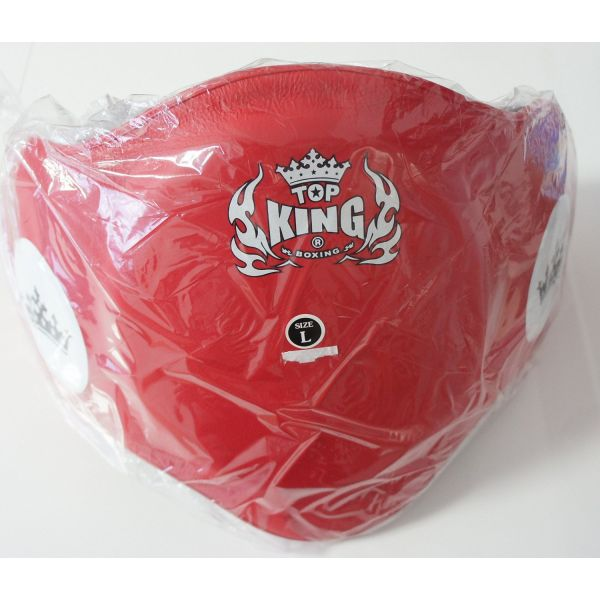 トップキング TOP KING キックボクシングベリープロテクター 赤 Lサイズ