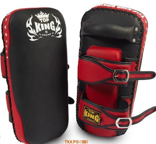 トップキング TOP KING キックボクシング キックミット ストレートタイプ ベルト 黒赤 M