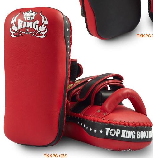 トップキング TOP KING キックボクシング キックミット ストレートタイプ ベルト 赤 L
