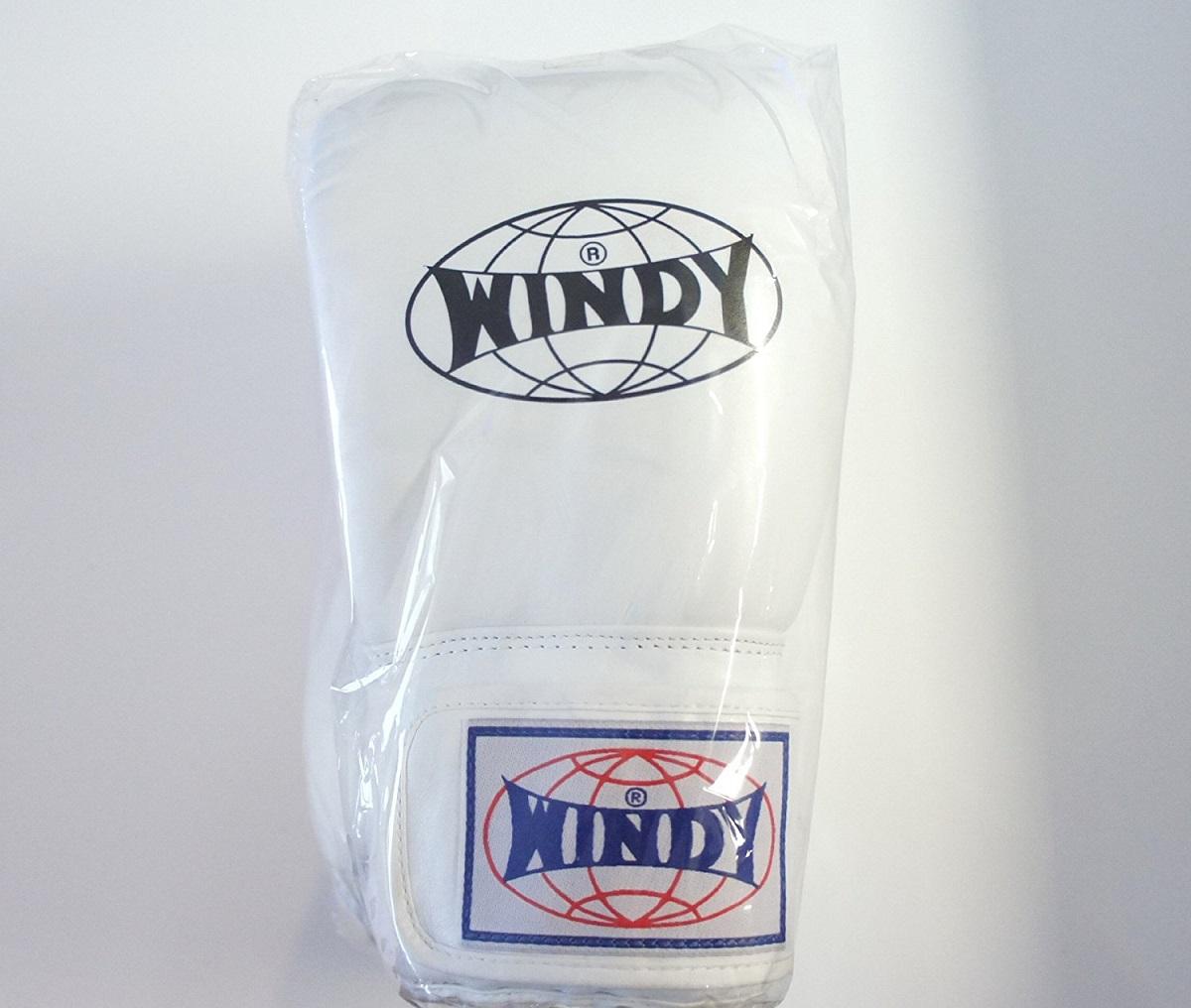 WINDY 1着でも送料無料 ウインディ 本革製キックボクシング 6オンス グローブ 新入荷 流行 白