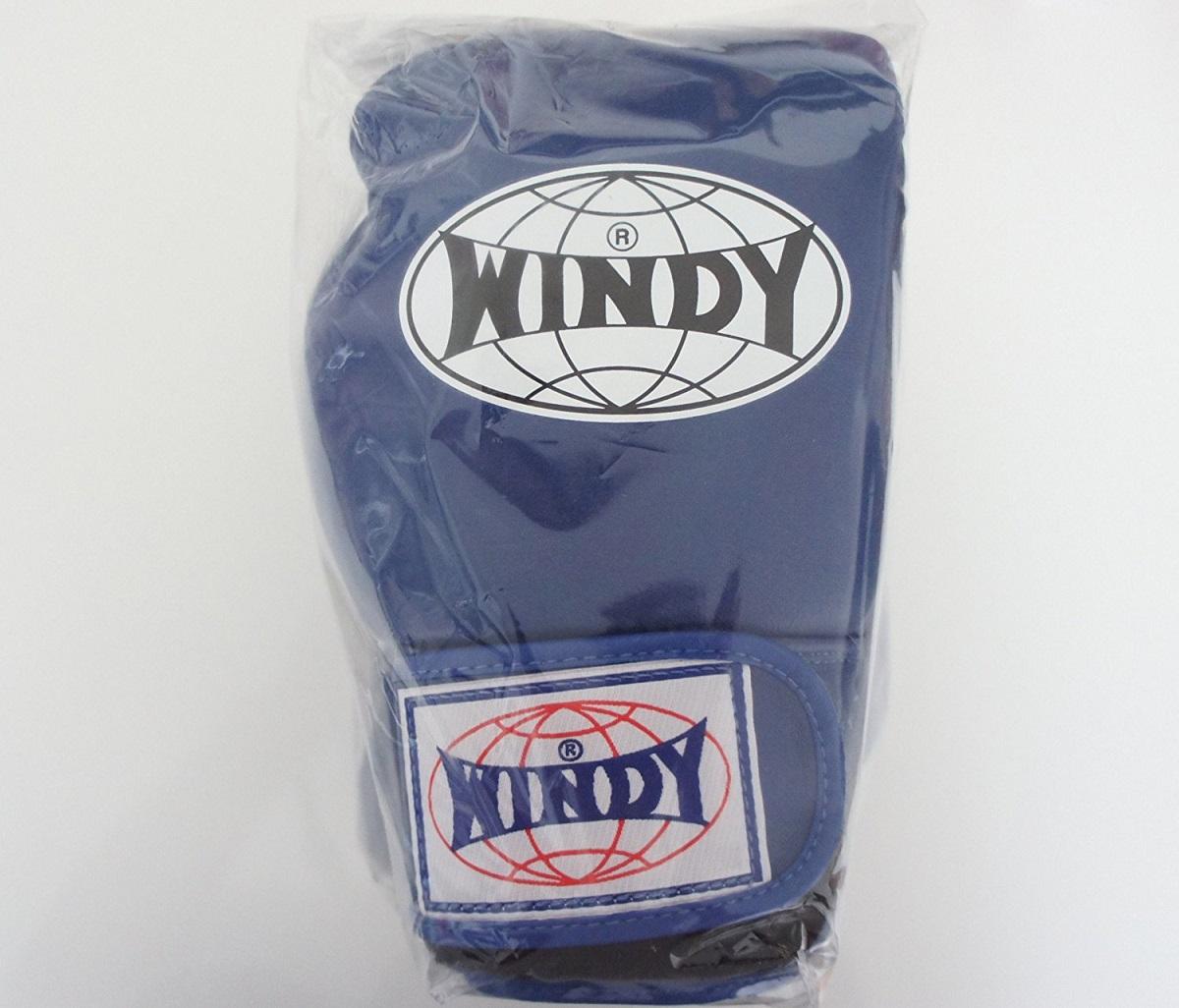 WINDY ウインディ 本革製キックボクシング グローブ 青 6オンス