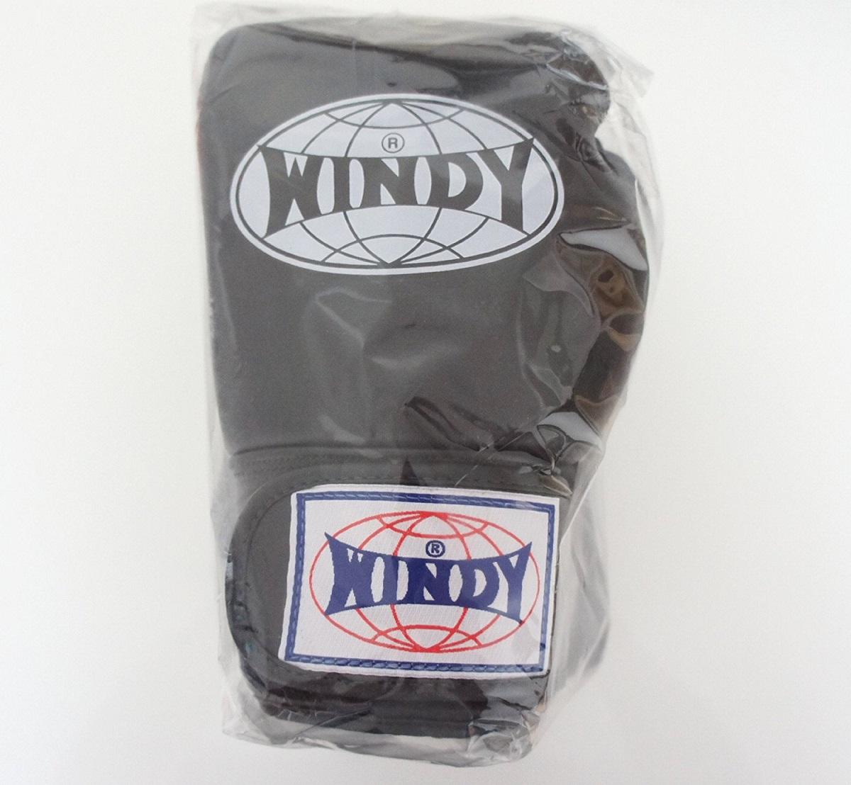 WINDY ウインディ 本革製キックボクシング グローブ 黒 6オンス