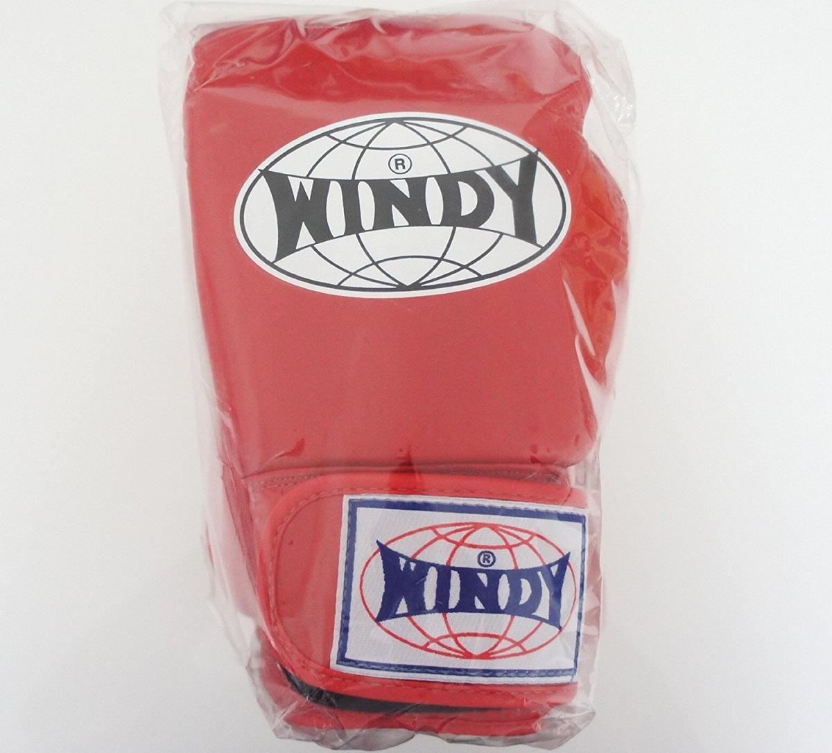 WINDY ウインディ 本革製キックボクシング グローブ 赤 6オンス