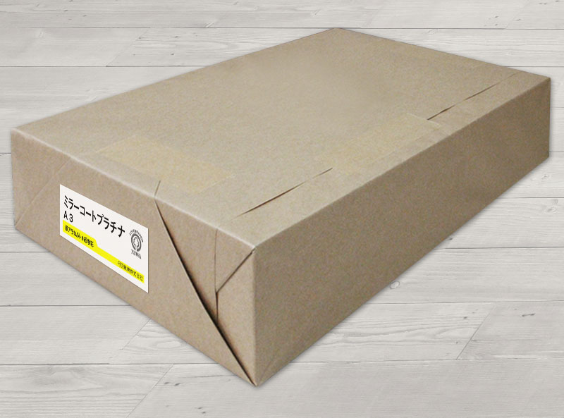 片面キャストコート(裏:コート紙)ミラーコート・プラチナ<150kg>A3 1000枚【当日発送可】【サイズ変更可】