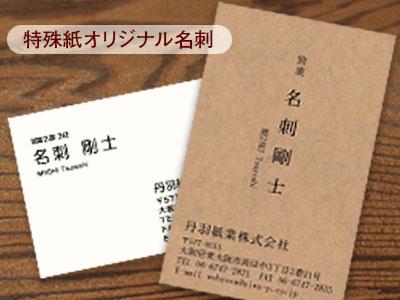 特殊紙ショップカード印刷/名刺作成 名刺印刷 両面モノクロ 300枚