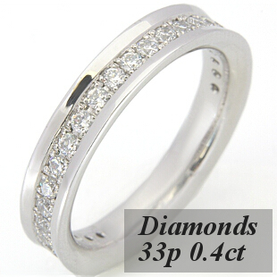 フルエタニティリング ダイヤモンド約33p、約0.4ct S8140L☆グレードアップ可能☆