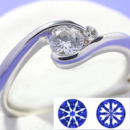 【0.5ct】セミオーダーダイヤモンドリング ハート&キューピッドB-01★