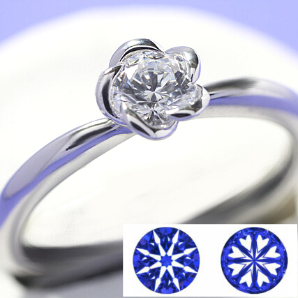 【0.2ct】セミオーダーダイヤモンドリング ハート&キューピッドB-03★