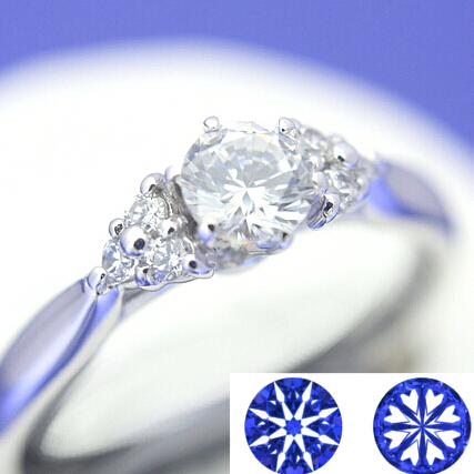 【0.5ct】セミオーダーダイヤモンドリング ハート&キューピッドC-02★