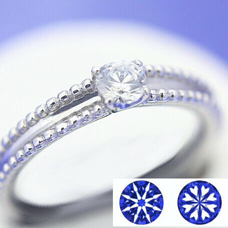 【0.2ct】セミオーダーダイヤモンドリング ハート&キューピッドC-06★
