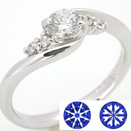 【0.5ct】セミオーダーダイヤモンドリング ハート&キューピッドD-12★