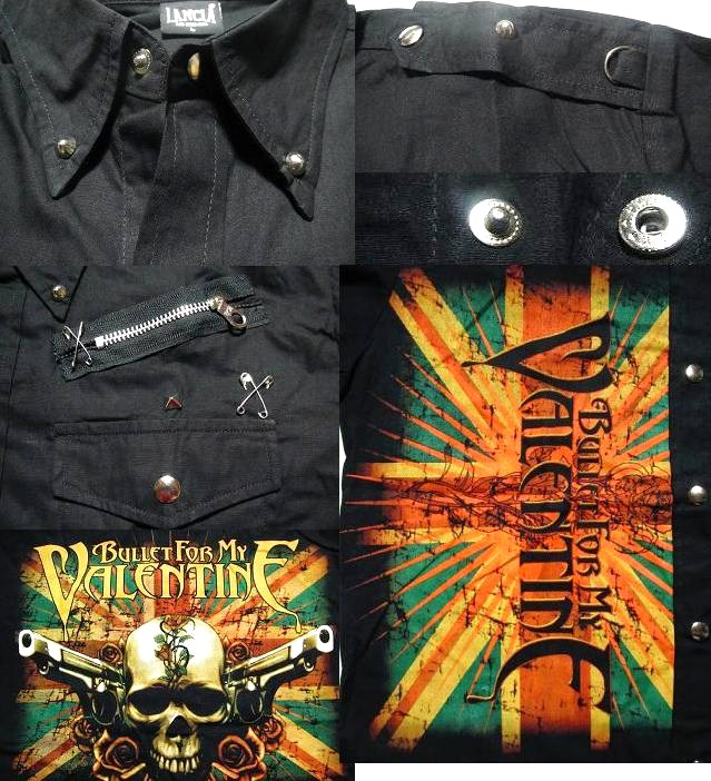 Brett for my Valentine Bullet For My Valentine Union Jack union jack men's men's skull, wing, wing WING rock ROCK shirts ◆ long sleeve t-shirt-black NO.1