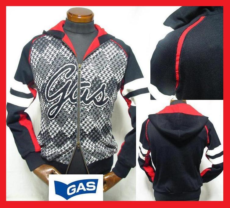 パーカー メンズ ジャケット イタリア製 GAS(ガス) ジップフードパーカーニットジャケット ジャージ スポーツウェア