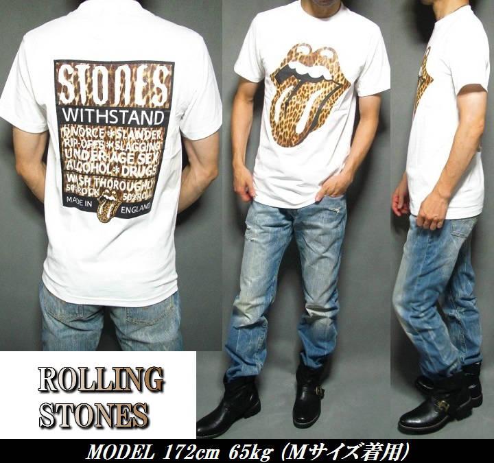 afd6015e ... Rolling Stones big / Leopard pattern / Leopard / Vero short sleeve T  shirt / ROLLING