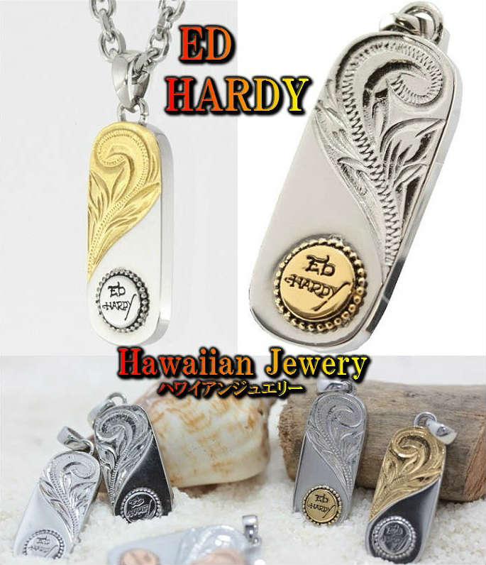 エドハーディー ed hardy エド・ハーディー ネックレス/ペンダント ピュア/pure メンズ ゴールド/シルバー ステンレス ハワイアンジュエリー ブランド 6デザイン