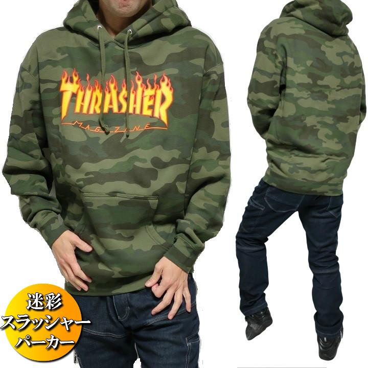 THRASHER スラッシャー パーカー メンズ スウェット プルオーバー 迷彩/カモフラ/ミリタリー メンズ/裏起毛 メンズファッション