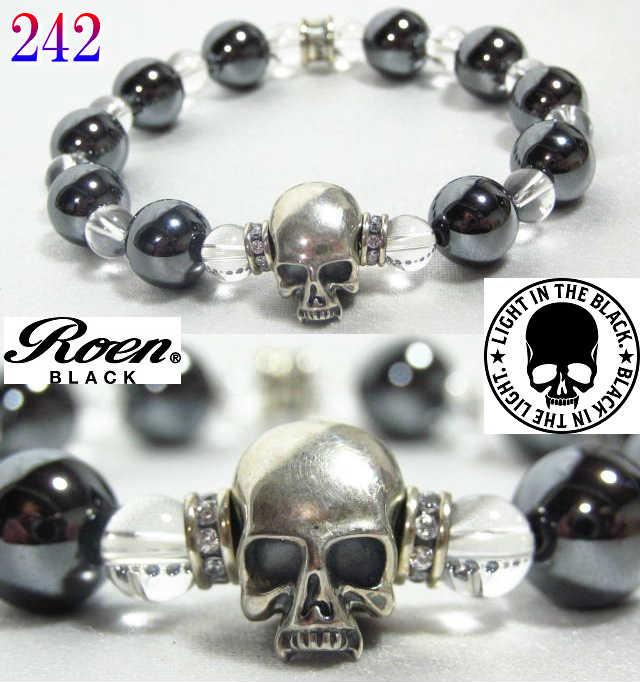 Roen ロエン ブレスレット メンズ ブランド RoenBLACK ロエンブラック スカル 数珠 ブレスレッド RO-242 ジュエリー アクセサリー