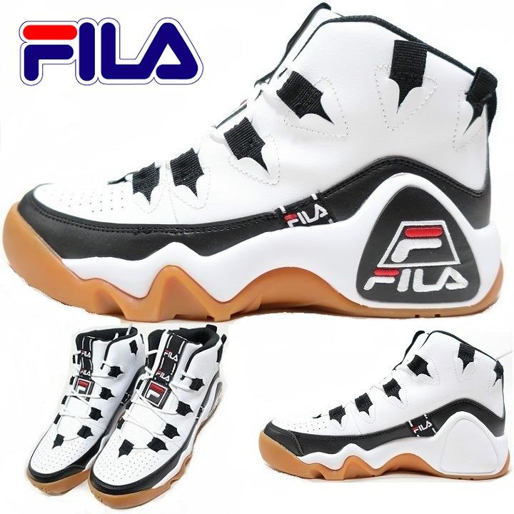 FILA フィラ スニーカー シューズ/靴 メンズ バッシュ ハイカット グラントヒル 1 タルボス HERITAGE F4076 ホワイト/ブラック/フィラレッド