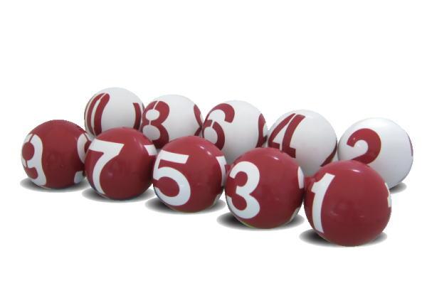 ゲートボール ニチヨー NICHIYO 数字 3面公認球 10個セット GB-3 ゲートボール用品