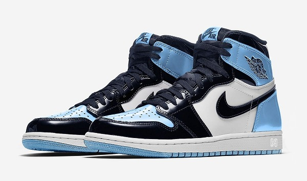 "【ナイキ ジョーダン】NIKE WMNS AIR JORDAN 1 RETRO HIGH OG ""UNC PATENT LEATHER"" 【harusport_d19】"