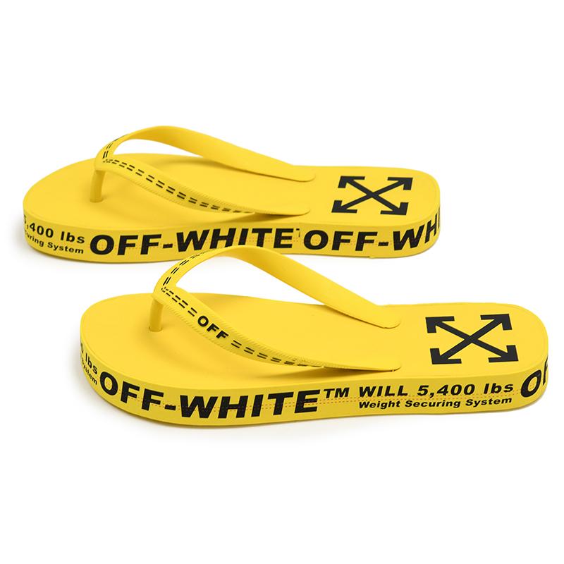 OFF WHITE オフホワイト FRIP FLOP イエローサンダル 靴 イタリア正規品 OMIA131R20D2700160ZikPXu