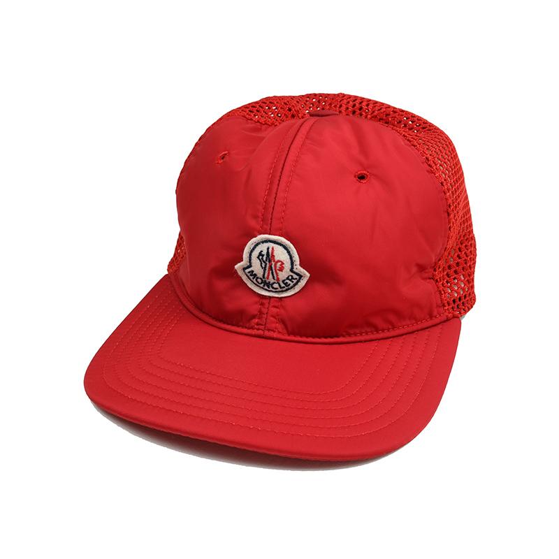MONCLER モンクレール メンズ レッドキャップ 帽子 イタリア正規品 新品 0095000