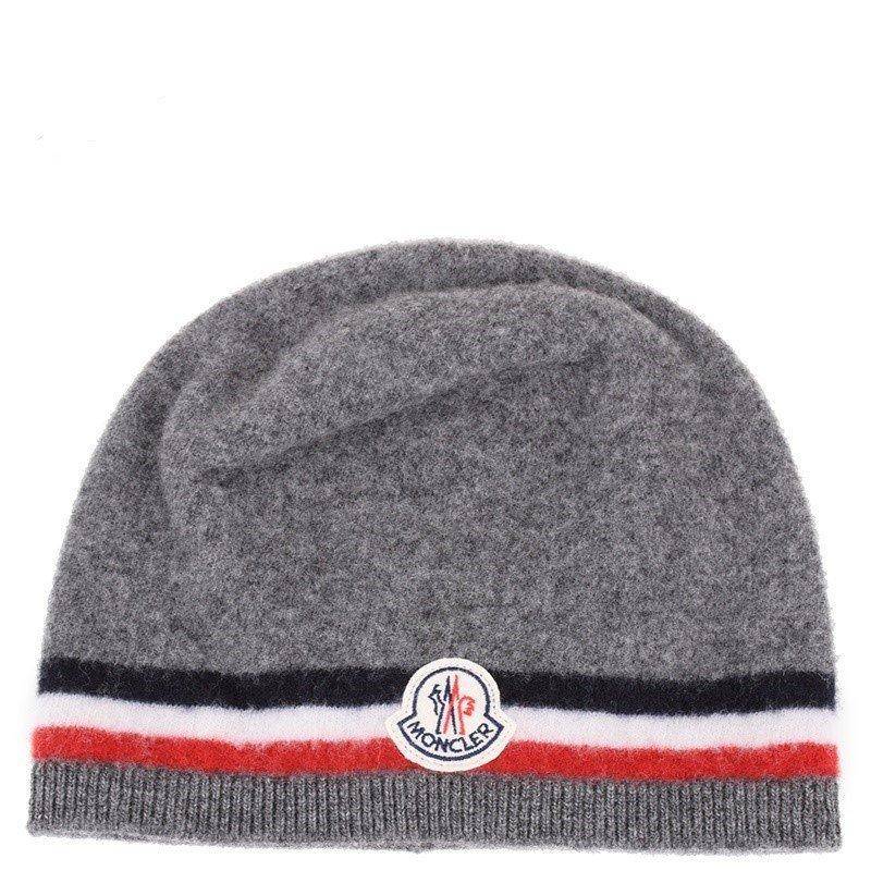 MONCLER モンクレール グレーヴァージンウールニットキャップ 帽子 イタリア正規品 0026300 新品