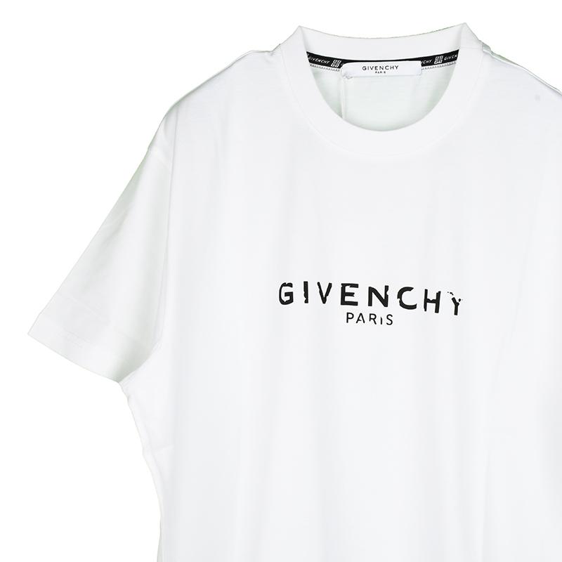 GIVENCHY ジバンシィ メンズ ホワイト半袖Tシャツ イタリア正規品 新品 BM70KC3002