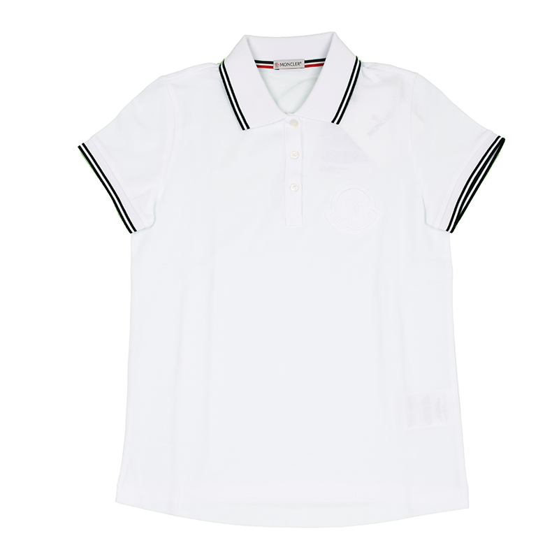 MONCLER モンクレール ホワイト半袖ポロシャツ レディース イタリア正規品 2019SS 8386061 新品