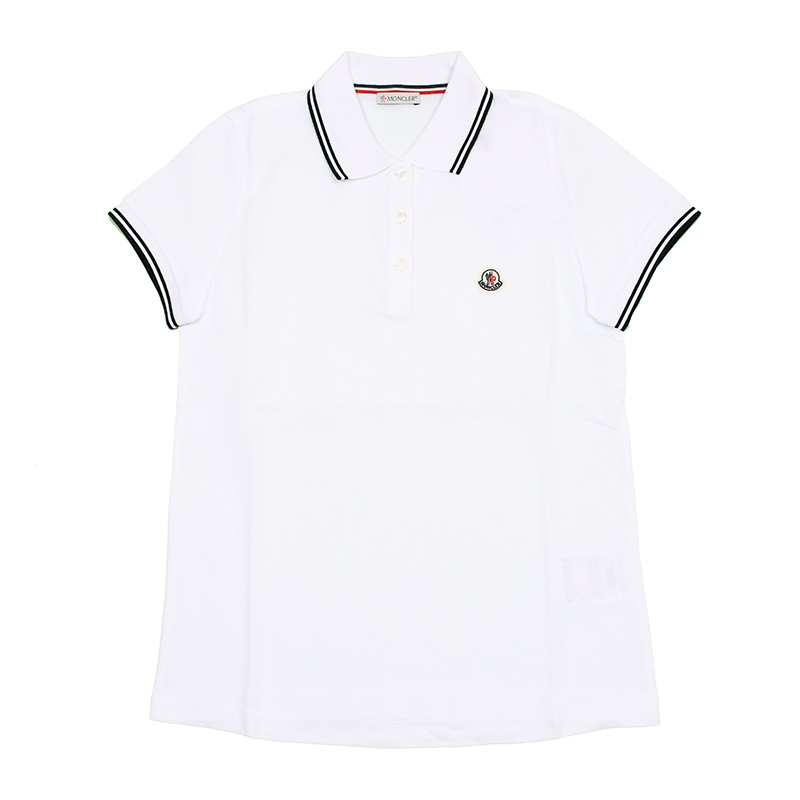 モンクレール 大幅にプライスダウン レディース 2020SS MONCLER ホワイト半袖ポロシャツ 8A70200 イタリア正規品 新品 最安値 84667
