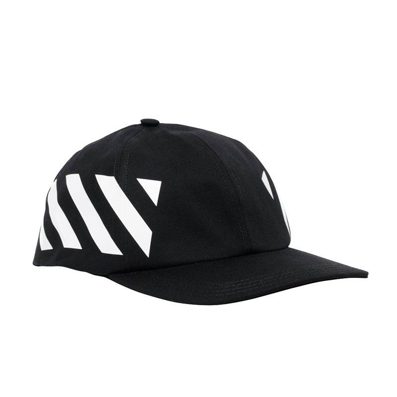 OFF-WHITE オフホワイト DIAG ブラックキャップ 帽子 イタリア正規品 新品