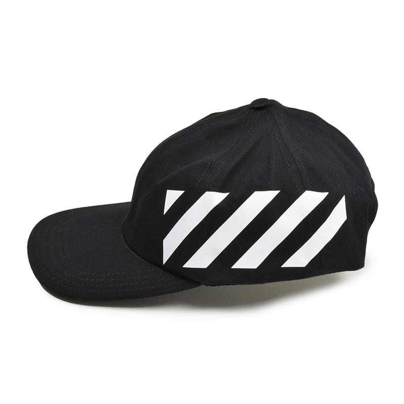 OFF-WHITE オフホワイト DIAG ブラックキャップ 帽子 OMLB008R194000321001 イタリア正規品 新品
