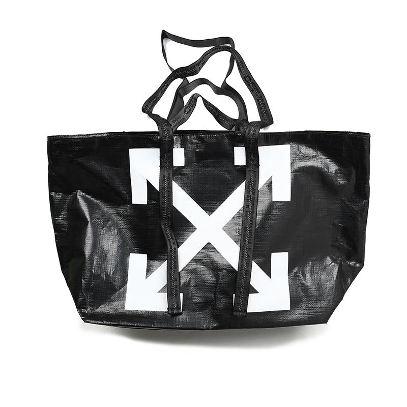 OFF-WHITE オフホワイト ARROWS ブラックトートバッグ 鞄 OWNA094E19F591101001 イタリア正規品 新品