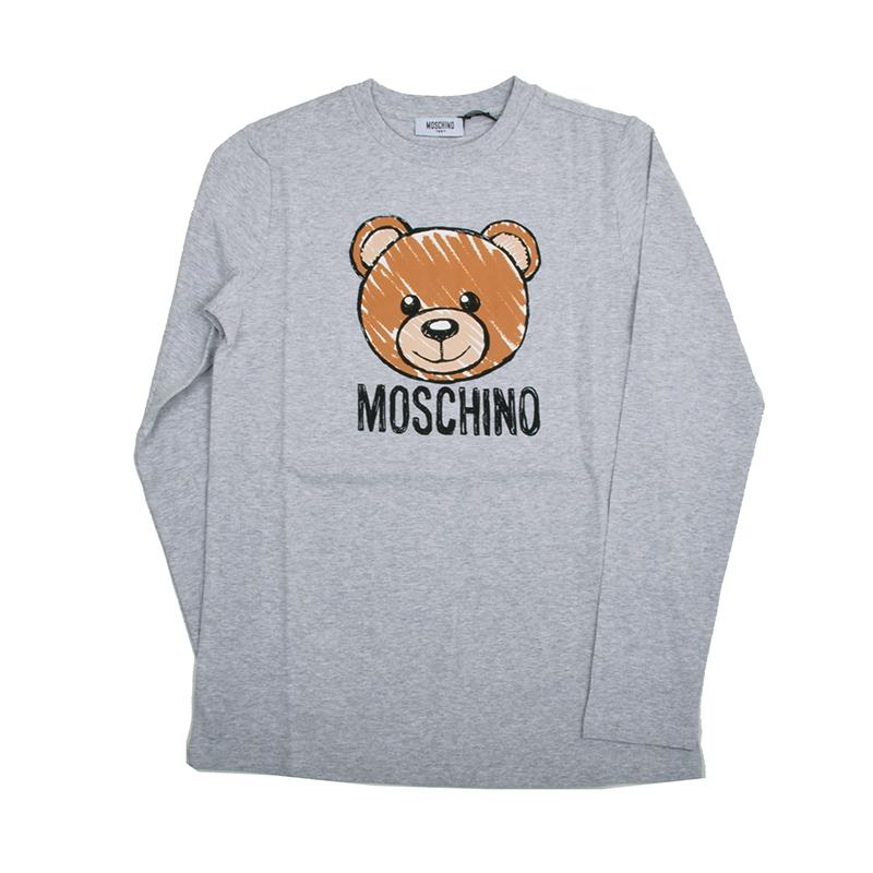 MOSCHINO モスキーノ TEEN グレーテディ長袖Tシャツ イタリア正規品 HZM01P 新品