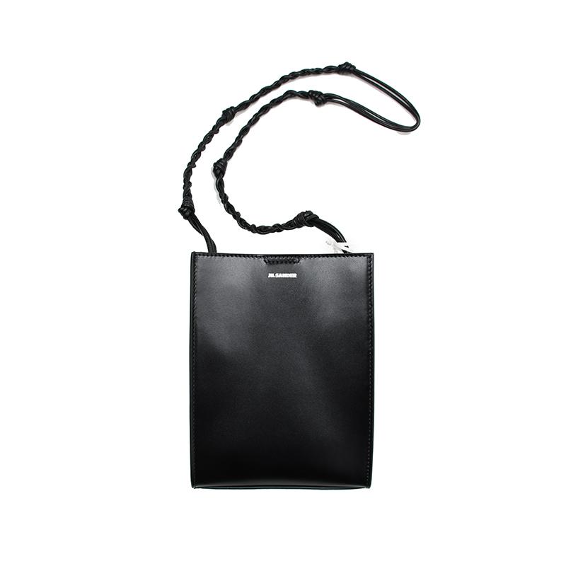 人気のブラック再入荷致しました。 JIL SANDER ジルサンダー TANGLE SMALL TOTE BAG ブラックショルダーバッグ 鞄 イタリア正規品 新品