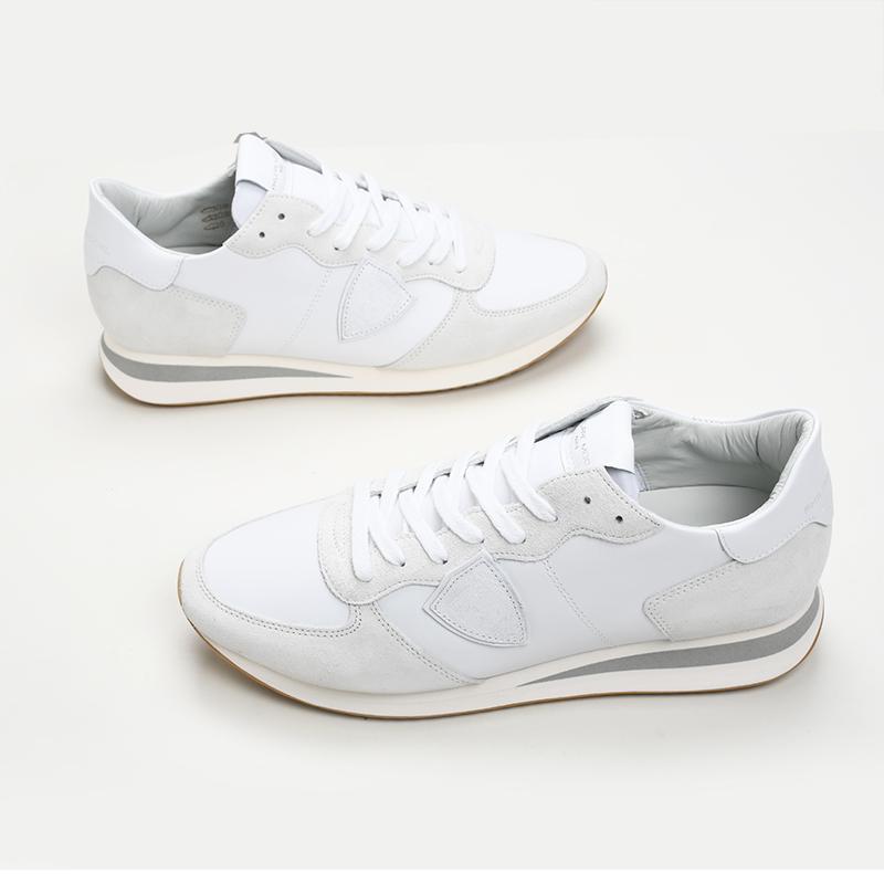 2021SS PHILIPPE MODEL 超目玉 PARIS フィリップモデル メンズ 6001 ホワイトスニーカー 靴 イタリア正規品 TZLU 新品 期間限定送料無料