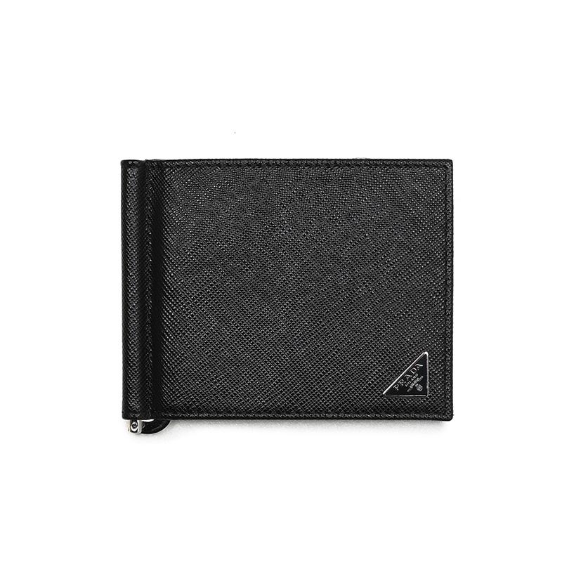PRADA プラダ マネークリップ2つ折り財布 イタリア正規品 2MN077 QHH F0002 新品