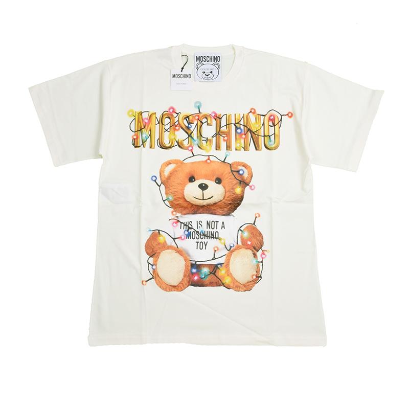 MOSCHINO モスキーノ オフホワイトテディ半袖Tシャツ イタリア正規品 新品