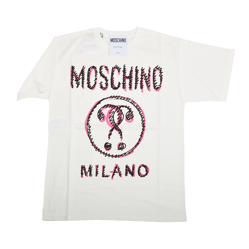 MOSCHINO モスキーノ ホワイトオーバー半袖Tシャツ イタリア正規品 新品
