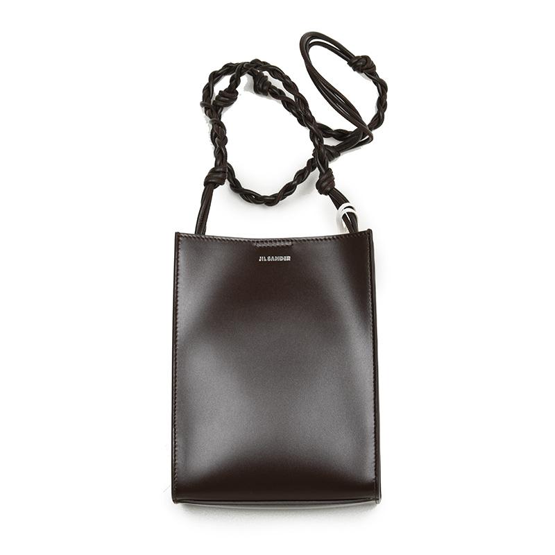 JIL SANDER ジルサンダー TANGLE SMALL TOTE BAG 208 ダークブラウンショルダーバッグ 鞄 イタリア正規品 新品
