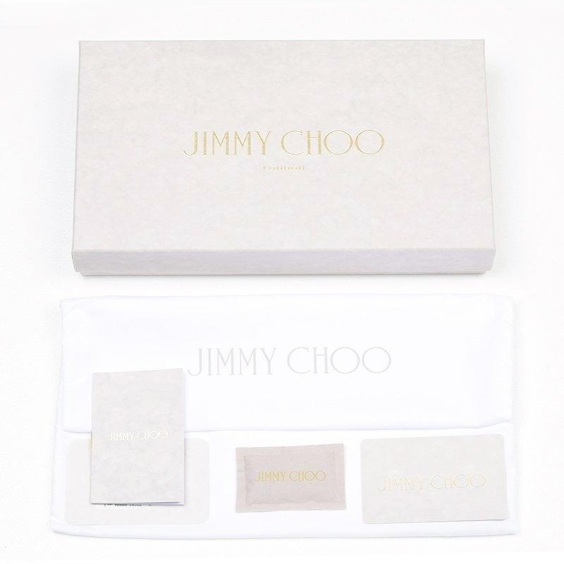 JIMMY CHOO ジミー チュウ FILIPA WDS AA0009 SILVER 長財布 イタリア正規品 新品