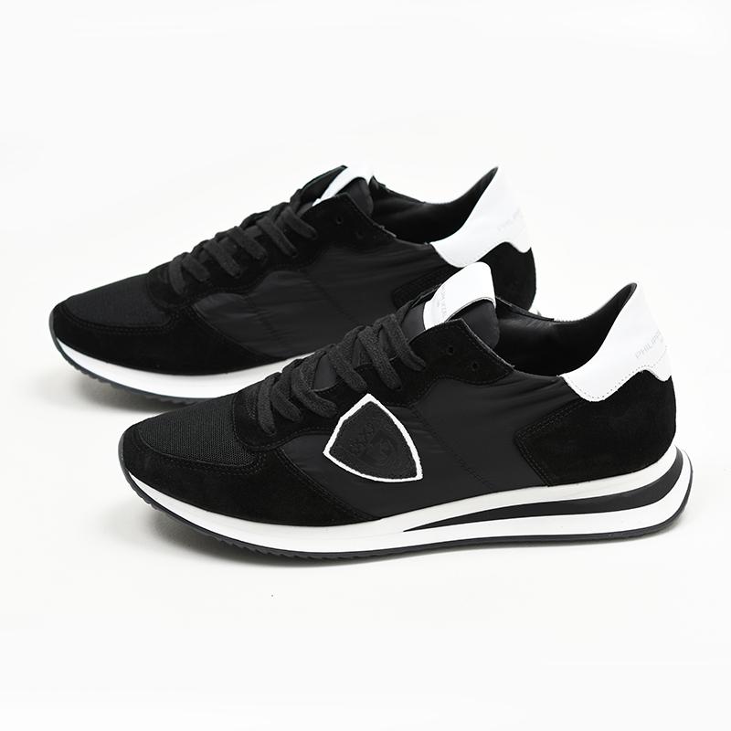 PHILIPPE MODEL PARIS フィリップモデル メンズ ブラックスニーカー 靴 イタリア正規品 TZLU 1109 新品