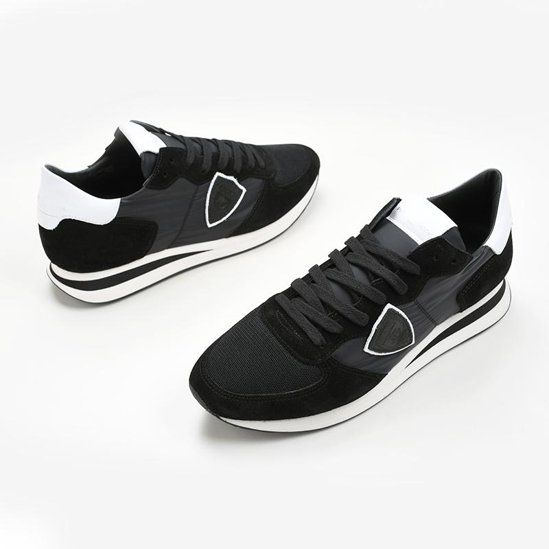 ナイロン素材モデル 希少 PHILIPPE MODEL PARIS フィリップモデル メンズ 人気海外一番 ブラックスニーカー TZLU 2109 新品 靴 イタリア正規品