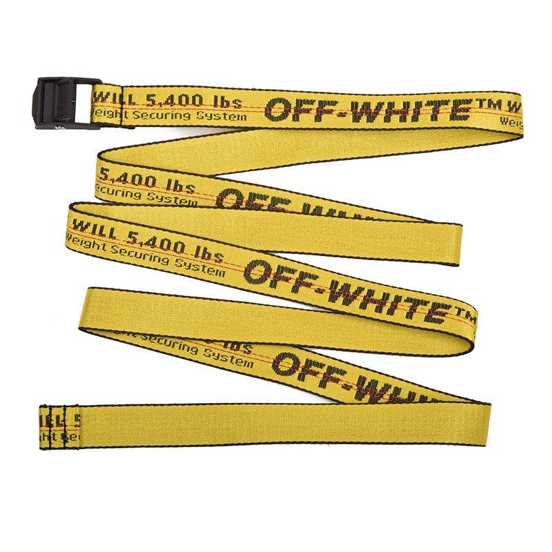 OFF-WHITE オフホワイト INDUSTRIAL MINIBELT イエローミニベルト 幅の細いタイプ イタリア正規品 新品