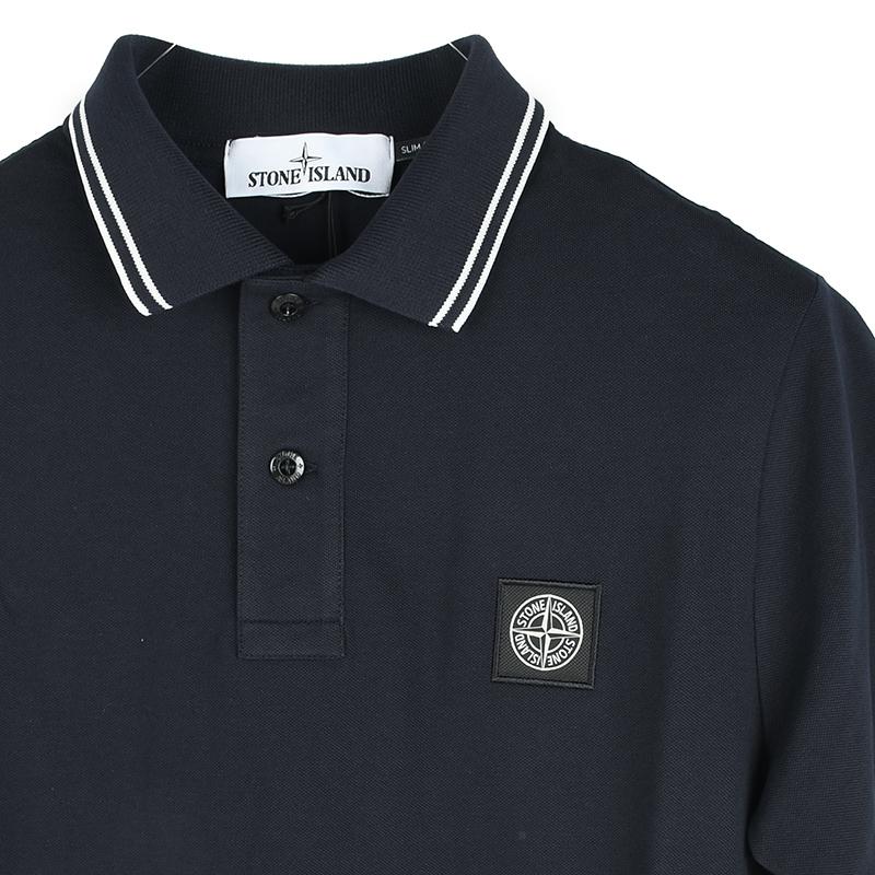 STONE ISLAND ストーンアイランド ネイビー半袖ポロシャツ メンズ イタリア正規品 正規認証品!新規格 安心の定価販売 101522S18 新品