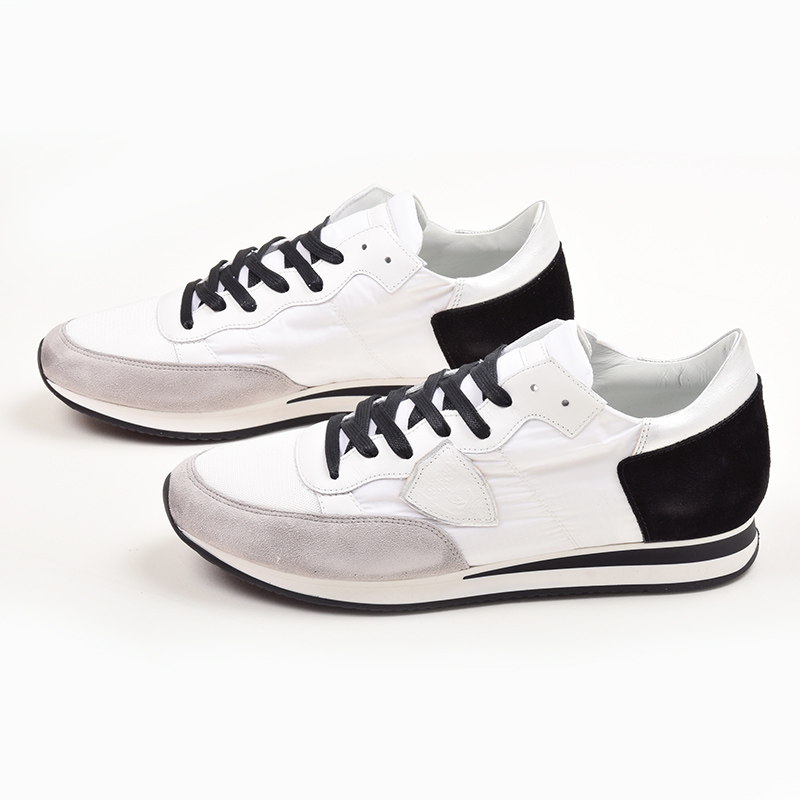 Men/'s Shoes Sneakers PHILIPPE MODEL Lakers Bassa Uomo Pony White Blue Made Italy