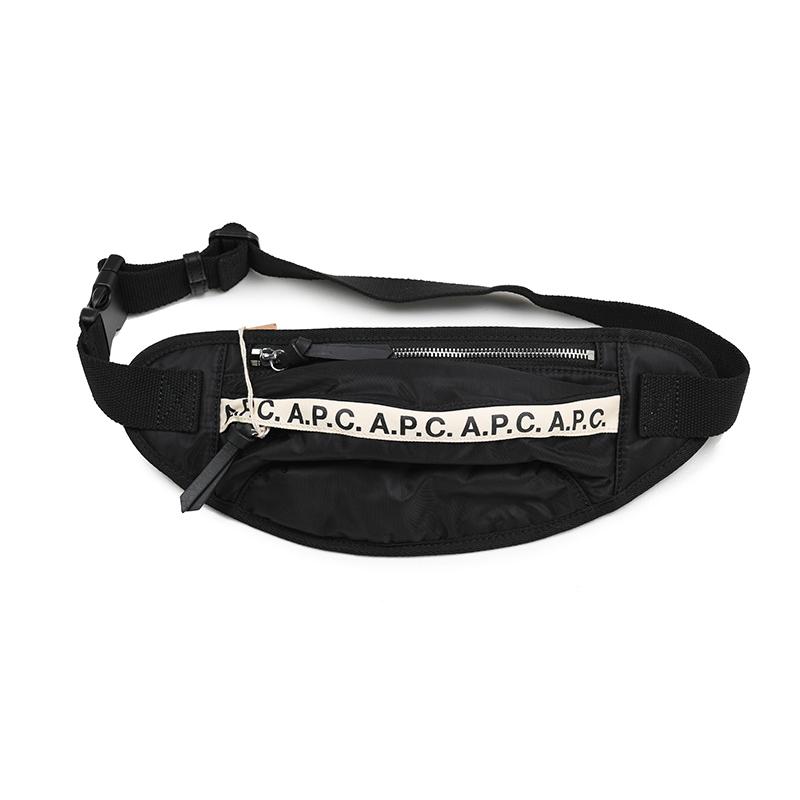 A.P.C. アーペーセー LZZ banane repeat ナイロン ボディバッグ ウエストポーチ イタリア正規品 新品 鞄