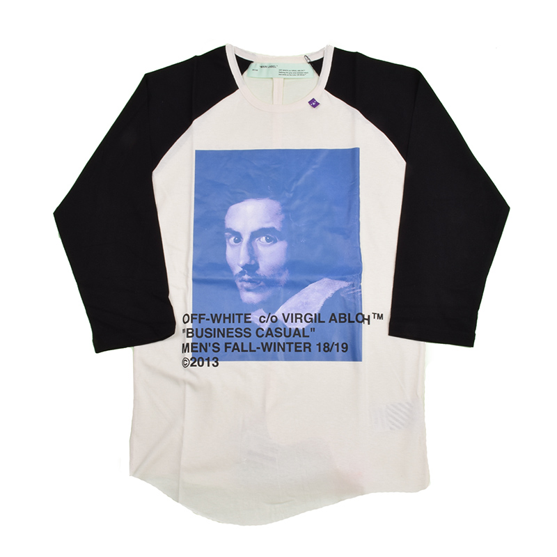 OFF-WHITE オフホワイト BERNINI ラグラン七分袖Tシャツ OMAB024F181850111030 イタリア正規品 新品