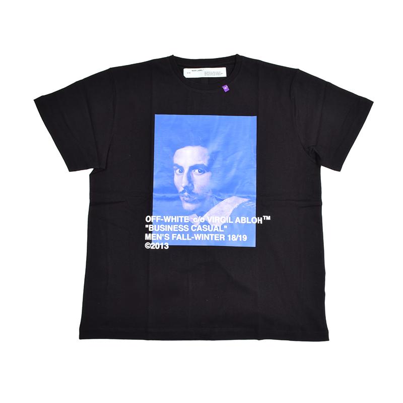 OFF-WHITE オフホワイト BERNINI ブラック半袖Tシャツ OMAA038F181850111030 イタリア正規品 新品